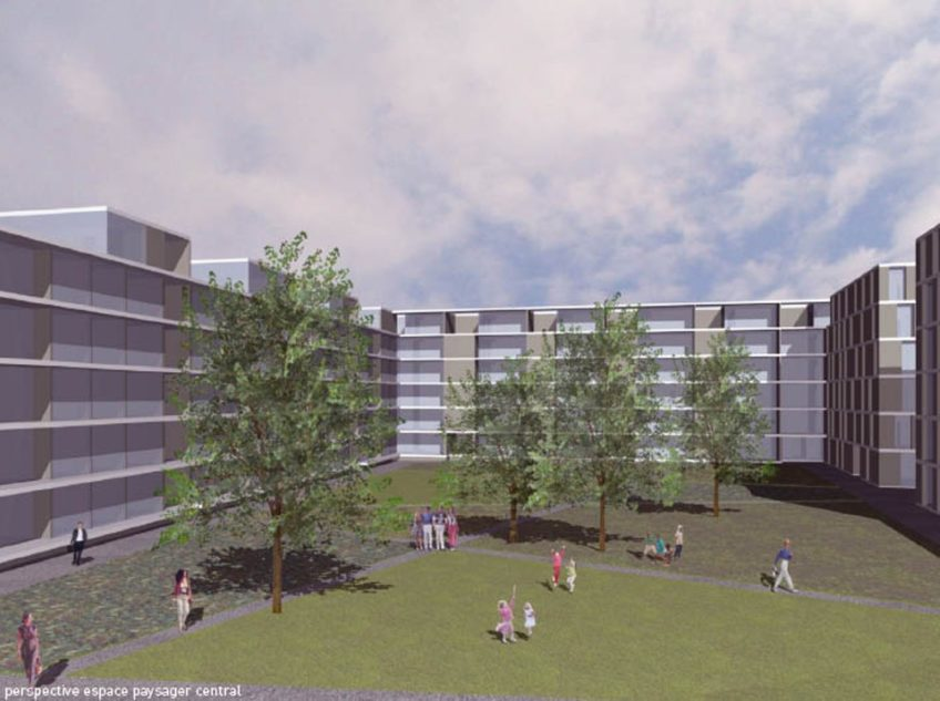 Duca  Perspective Espace Paysager Central  I